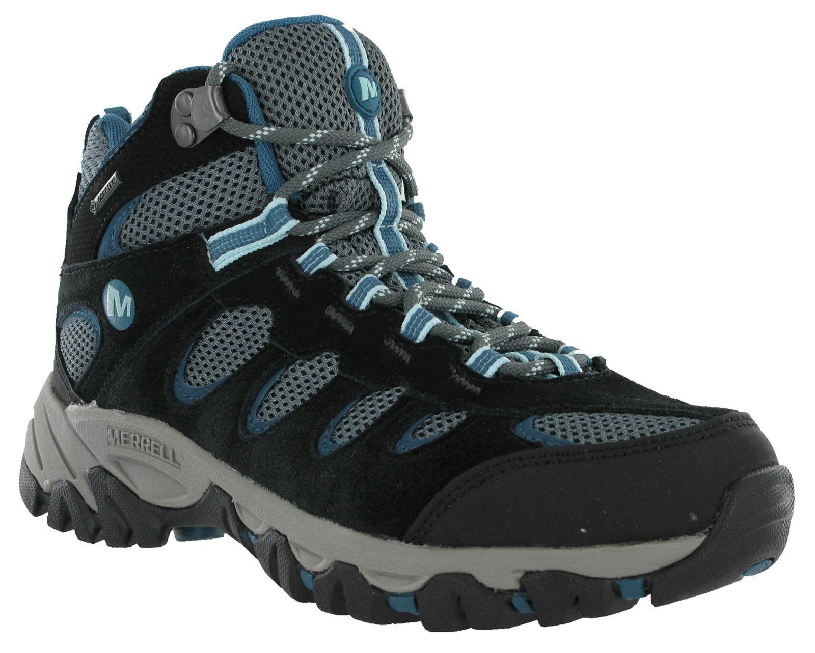 Merrell Ridgepass Mitte Leder Gore-Tex Leder Mitte Maschen Wanderweg Damenstiefel UK3.5-4.5 45c704