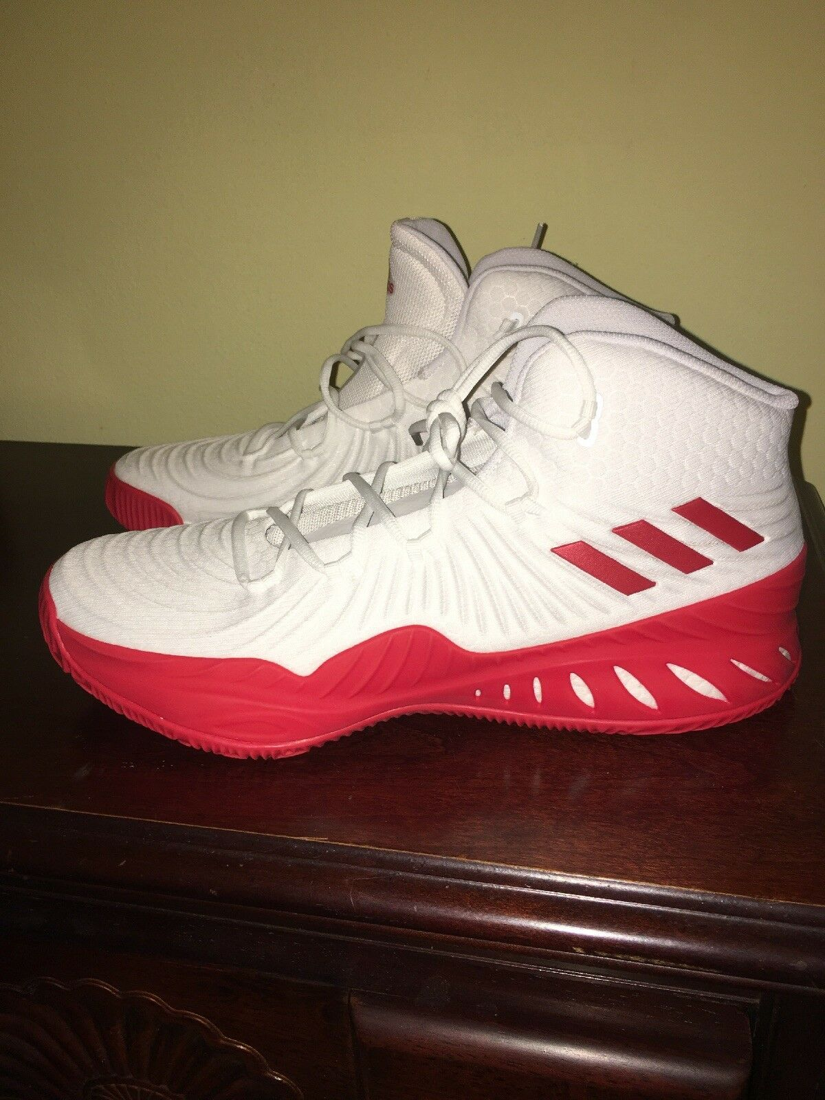 New Adidas Crazy Explosive 2017 Boost Size 13.5 Basketball Red White CQ1527