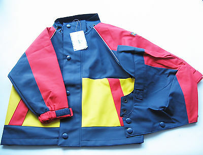Angemessen Regen Jacke Gr.86 /92 Playshoes Neu M.e Kapuze Abn. Blau Rot Gelb Baby Kinder