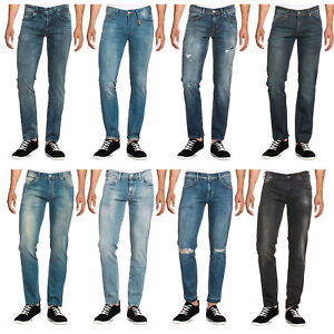 LTB-Herren-Jeans-Slim-Fit-Tapered-Fit-5-Pocket-Hose-Denim-Designer-Schwarz