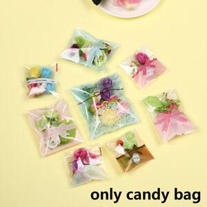 Mariage-Faveurs-plastique-Cookie-Pocket-Candy-Sac-auto-adhesif-mignon-Bow-Design