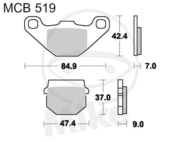 TRW Lucas Brake Pads mcb519 TGB BLADE 325 4X2