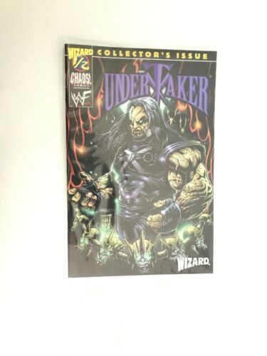 WWF   WITH C.O.A WIZARD #1//2  THE UNDERTAKER WWE CHAOS  1999  COA VERY N
