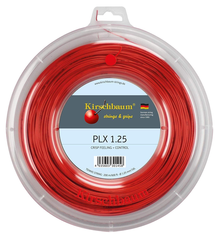 Kirschbaum PLX 1.25 mm x 200 mètres Bobine cordage raquettes de tennis red -