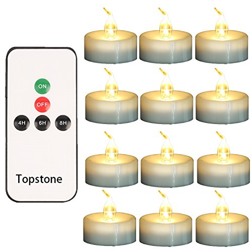 Topstone LED Flickering Timer Tealight Candle with Remote ...