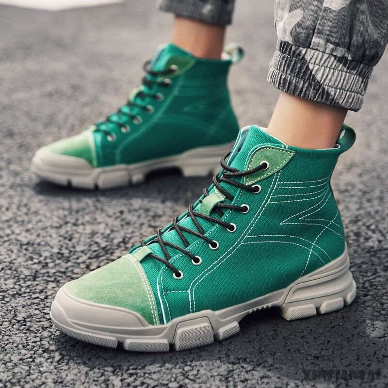 Mens Vogue Lace Up Multicolor Round Toe High Top New Trendy Low Heel shoes Hot