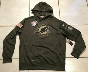 competitive price afc26 3f777 Mens L Large Nike Miami Dolphins NFL Salute to Service 2015 Hoodie Military