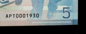 2006-Bank-of-Canada-5-Dollars-Birth-Year-Serial-Number-APT-0001930-CHUNC