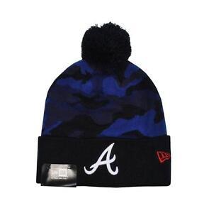 NEW ERA Atlanta Braves MLB Blue Navy Black Beanie Hat Unisex Army Camouflage Cap