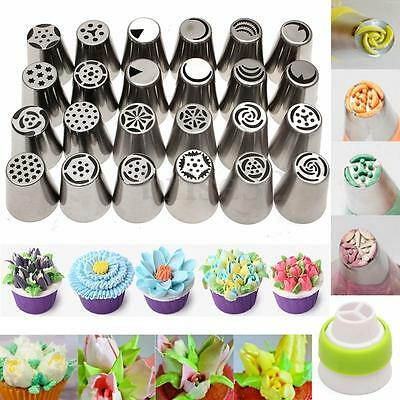 24Pcs Russian Icing Piping Nozzles Tips Cake Decorating Sugarcraft Pastry Tool