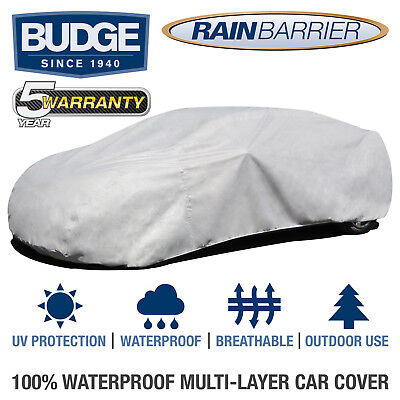 Breathable Waterproof Budge Rain Barrier Cover Fits Sedans up to 22 Long