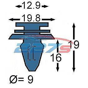 10x volkswagen transporter T5 caddy clips pour porte coulissante rail cover 7H0843658A