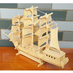 Sailing-Ship-Woodcraft-Construction-Kit-Wooden-Boat-Model-3D-Puzzle-Toy-Kid-Gift
