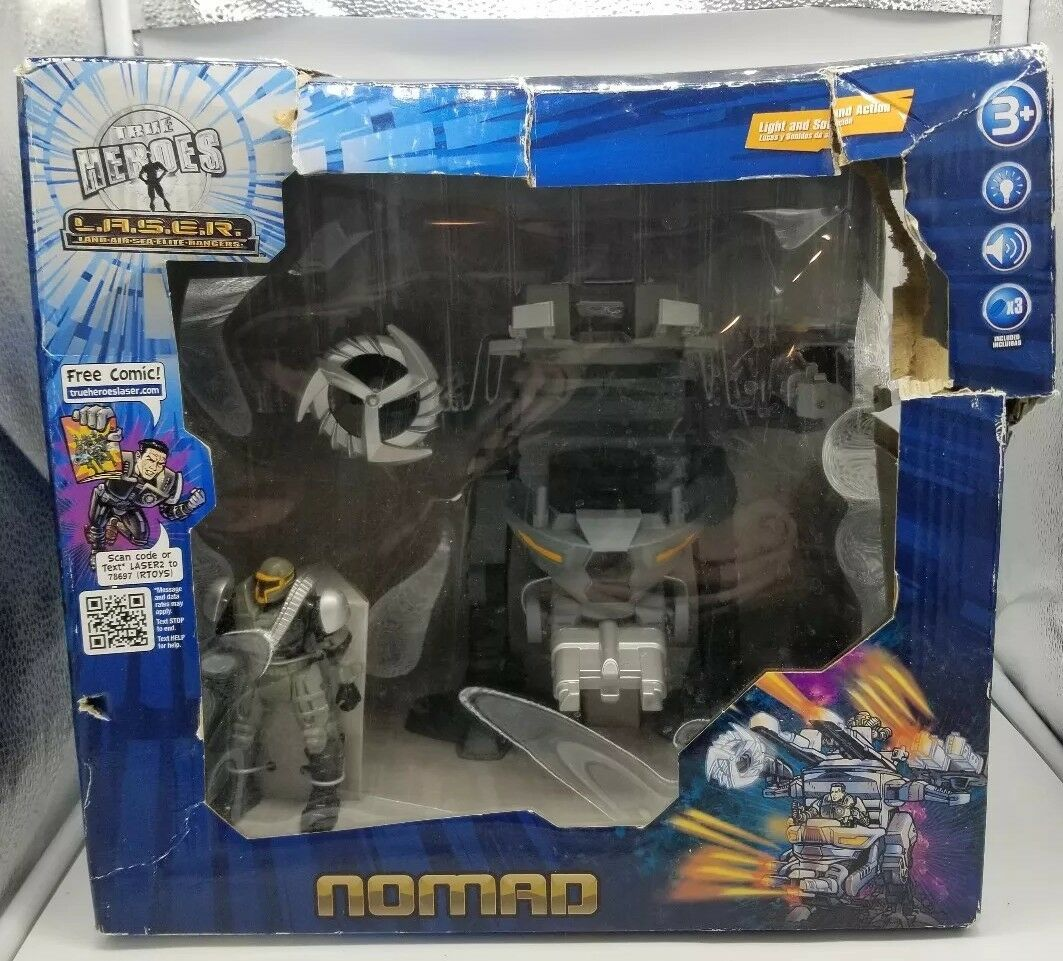 True Heroes L.A.S.E.R. Nomad Vehicle with Action Figure set MECH