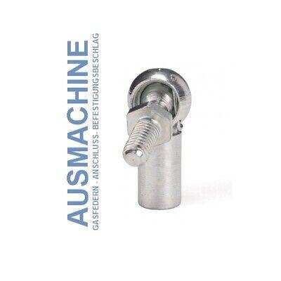695mm Hub=300mm M8 Gasdruckfeder Gasdämpfer Universal 22//10 Gasfeder 75N