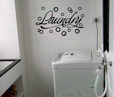Modern Home wall stickers Laundry Room decor - Bubbles Vinyl Wall Art