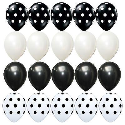 20X Latex balloons Polka dots Black white kid Birthday, Wedding Decorations