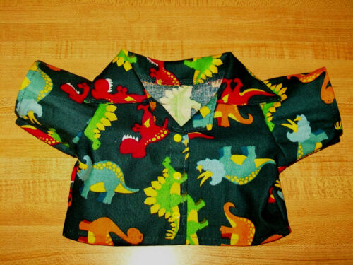 "DINOSAUR DINOSAURS SHIRT W// yellow BUTTONS for 16-17/"" CPK Cabbage Patch Kids"