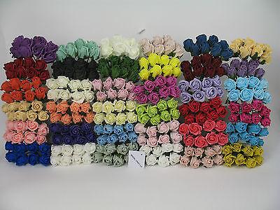 SALE 48  X 3cm Rosebuds Colourfast Foam 8 roses per bunch Wedding Flowers Craft