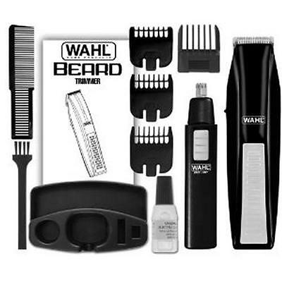 WAHL 5537-1801 CORDLESS BATTERY OPERATED BEARD TRIMMER EAR NOSE BROW TRIMMER NEW