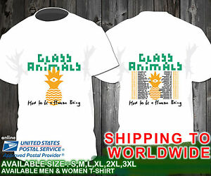 8bef223d8 Glass Animals How to be a Human Being Tour Dates 2017 Unisex White T ...