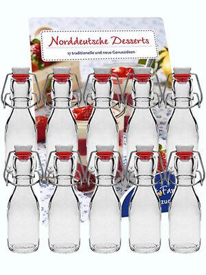 20 Leere Glasflaschen mit Bügelverschluss Bügelflaschen 200 ml 0,2 l Saftflasche