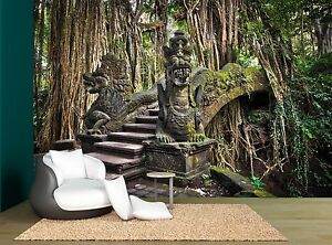 Details About Nature Jungle Forest Stone Bridge Wall Mural Photo Wallpaper Giant Wall Decor