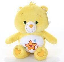 "NEW 12"" CHILDRENS CARE BEARS TRUEHEART YELLOW BEAR PLUSH SOFT TOY"