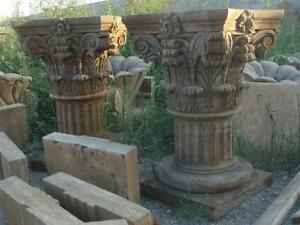 Image Is Loading Large Hand Carved Corinthian Style Marble Pedestal Perfect