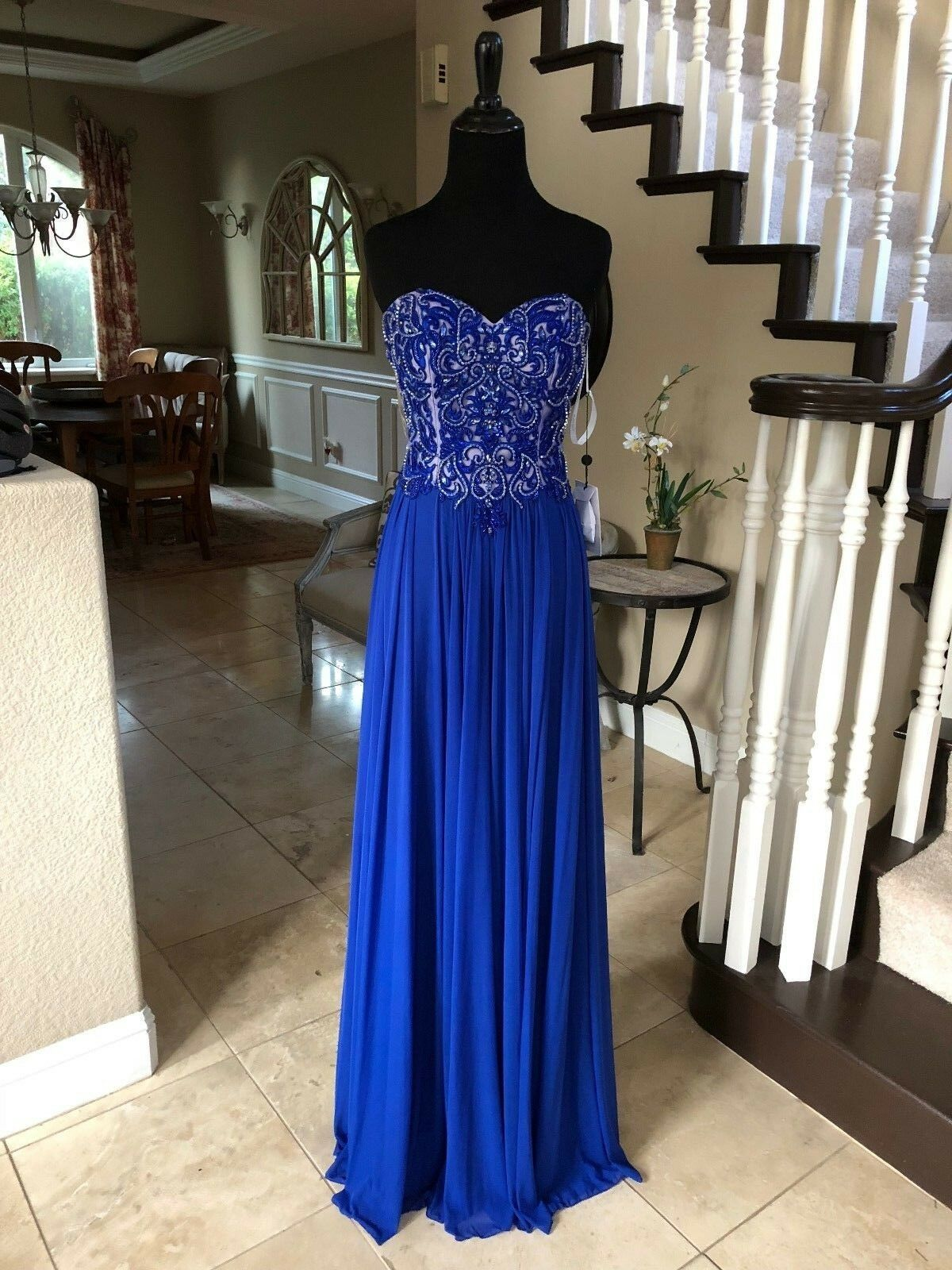 378 NWT ROYAL JVN BY JOVANI PROM PAGEANT FORMAL WEDDING DRESS GOWN SZ 6