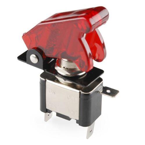 COMMUTATORE E COPERCHIO-illuminato Rosso