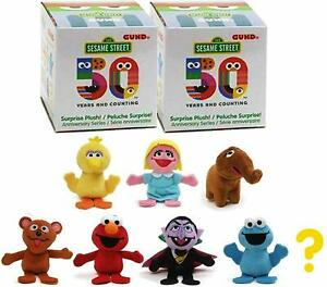 GUND-SESAME-STREET-2-x-BLIND-BOX-RANDOM-SERIES-2-PLUSH-TOY-50TH-ANNIVERSARY-8CM