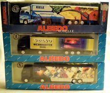 Albedo 3x Sattelzüge H0 mit Beschädigungen, fehlenden Teilen, ideal für Bastler