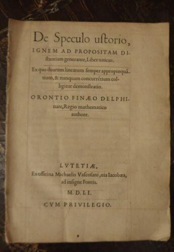 1551-Oronce-FINE-DE-SPECULO-USTORIO-Michel-Vascosan-EO-RARISSIME
