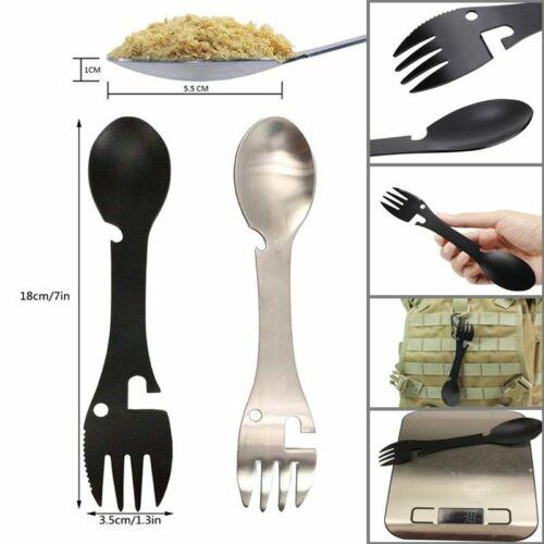 Titanium 5in1 Fork Spoon Spork Cutlery Utensil Combo Kitchen Picnic Tool