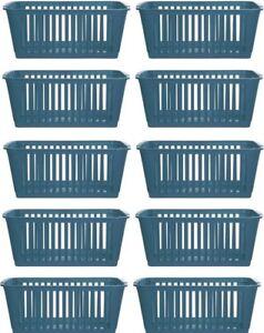 5x Whitefurze Plástico NESTABLE práctico ordenado canasta Bandeja 25 Cm-Cerceta