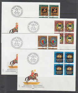 Switzerland-Sc-B479-B676-FDC-Collection-151-diff-all-blocks-1981-2003-issues