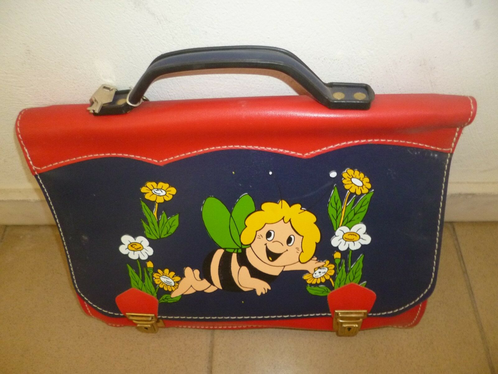 UNIQUE VINTAGE GREEK THE - MAYA THE GREEK BEE - SCHOOL BAG NEW FROM 80s d74dd5