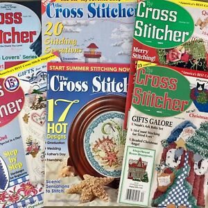 Lot-of-6-Cross-Stitcher-magazines-cross-stitch-Christmas-amp-Summer-patterns-more