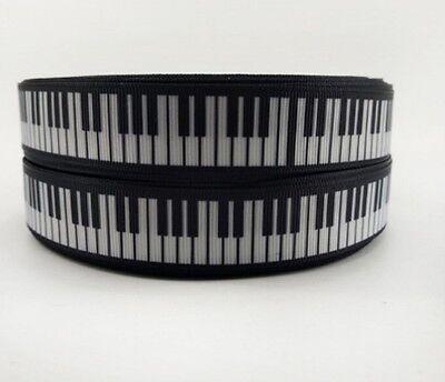 "Gros-grain piano music note ruban 7//8/"" 22mm"