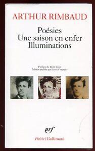 Détails Sur Arthur Rimbaud Poesies Une Saison En Enfer Illuminations Poesienrf 2003