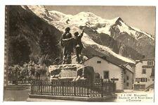 CPA 74 Haute-Savoie Chamonix Monument de Saussure et Mont-Blanc