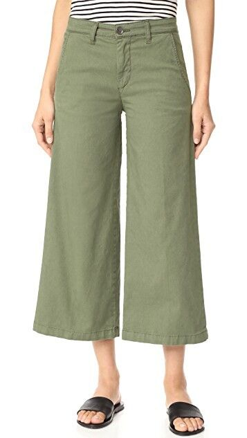 BALDWIN Kansas City 'Devin' Mid-rise Cropped Trouser Pants, Made in USA, Size 28