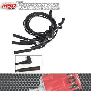 details about msd ignition 5541 8mm black street fire spark plug wires ford  302 5 0l/351w hei