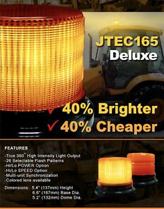 NEW-High-Grade-Axixtech-LED-Beacon-Amber-Warning-Light-Emergency