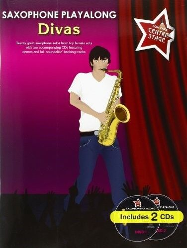 You Take Centre Stage Divas Playalong Alto Sax Bk/2Cd, New Books
