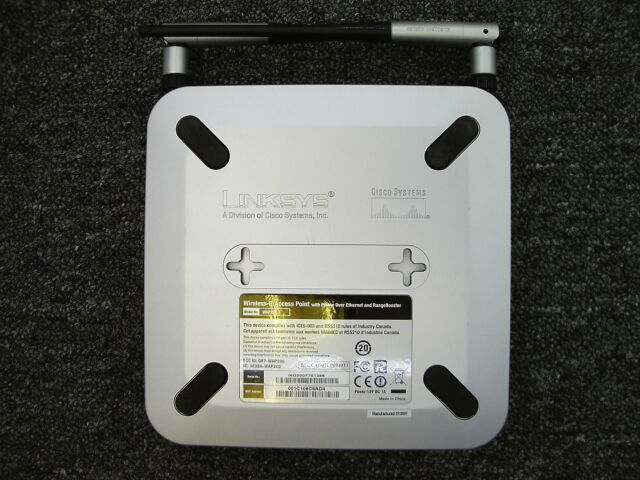 Cisco WAP200 Wireless-G Access Point w// POE /& Range Booster FREE SHIP Linksys