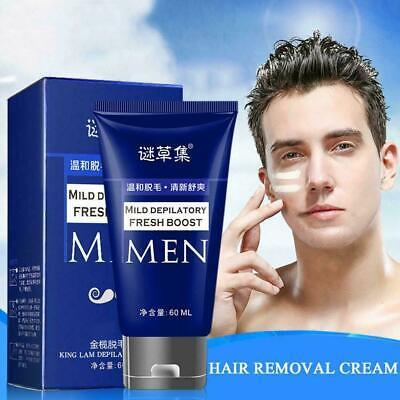 60ml Men Permanent Hair Removal Cream For Pubic Depilatory Beard Pas Cl Ebay