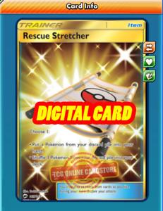 PTCGO, Digital Card SR Rescue Stretcher SECRET RARE for Pokemon TCG Online