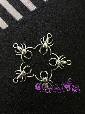 PJ282/ 20pc Tibetan Silver Charms Spider Retro Accessories Wholesale